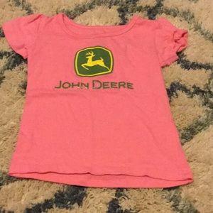 John deere pink 2T shirt
